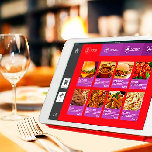 El uso de tablets en restaurantes
