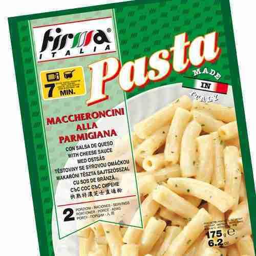 Pastas instantáneas FIRMA ITALIA. Cusimano Import. Maccheroncini