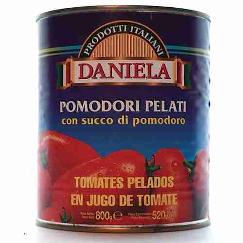 Tomates pelados DANIELA. Cusimano Import.