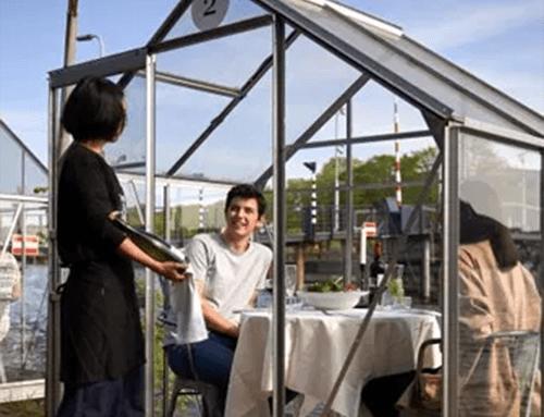 Invernaderos personales, el último invento de un restaurante en Amsterdam