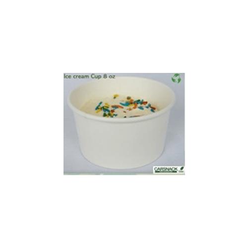 Ice Cream Cup 8 onzas de papel Blanco
