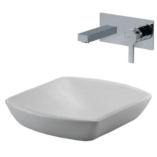 Lavamanos Fuente Stylo Cuadrato | Edesa | Proveedores de lavamanos para hoteles y restaurantes
