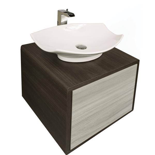 Mueble lavamanos Smooth Olmo gris | Edesa