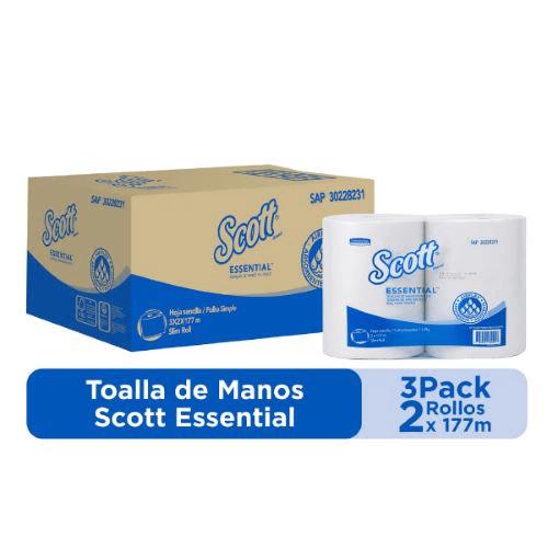 Toalla Manos Scott Essential en rollo - Hoja Sencilla Airflex   Kimberly Clark   Proveedores de insumos de limpieza  