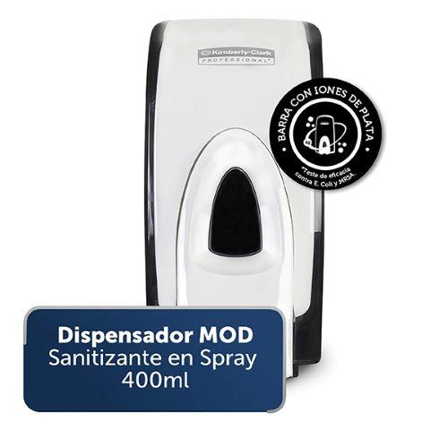Dispensador MOD Sanitizante en Spray por 400 ml