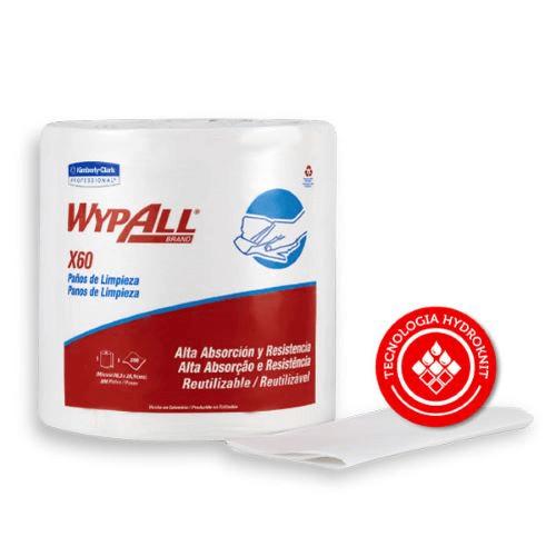 Paños de limpieza WypAll X60 Rollo Jumbo