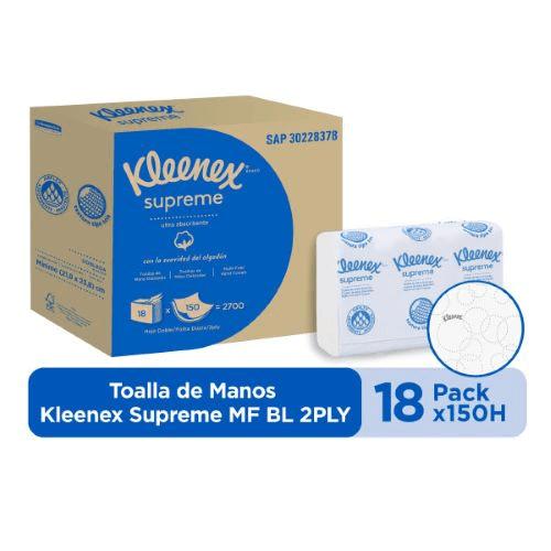 Tolla Manos Kleenex Supreme Z en hojas