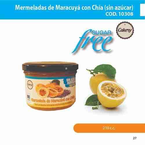 Mermelada de maracuyá chia, sin azúcar
