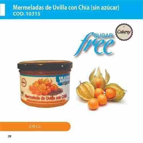 Mermelada uvilla chía sin azúcar | La Quiteña | Proveedores de mermeladas