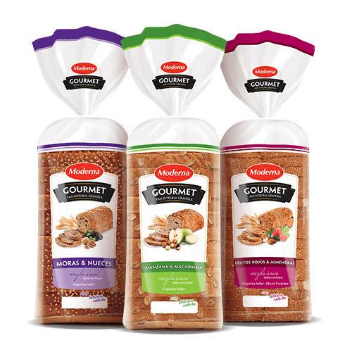 Panes Moderna Gourmet Granolas | Moderna Alimentos | Proveedores de pan para hoteles y restaurantes