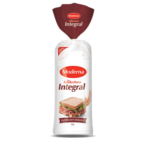 Pan Moderna Integral Sanduchero 800 | Moderna Alimentos |